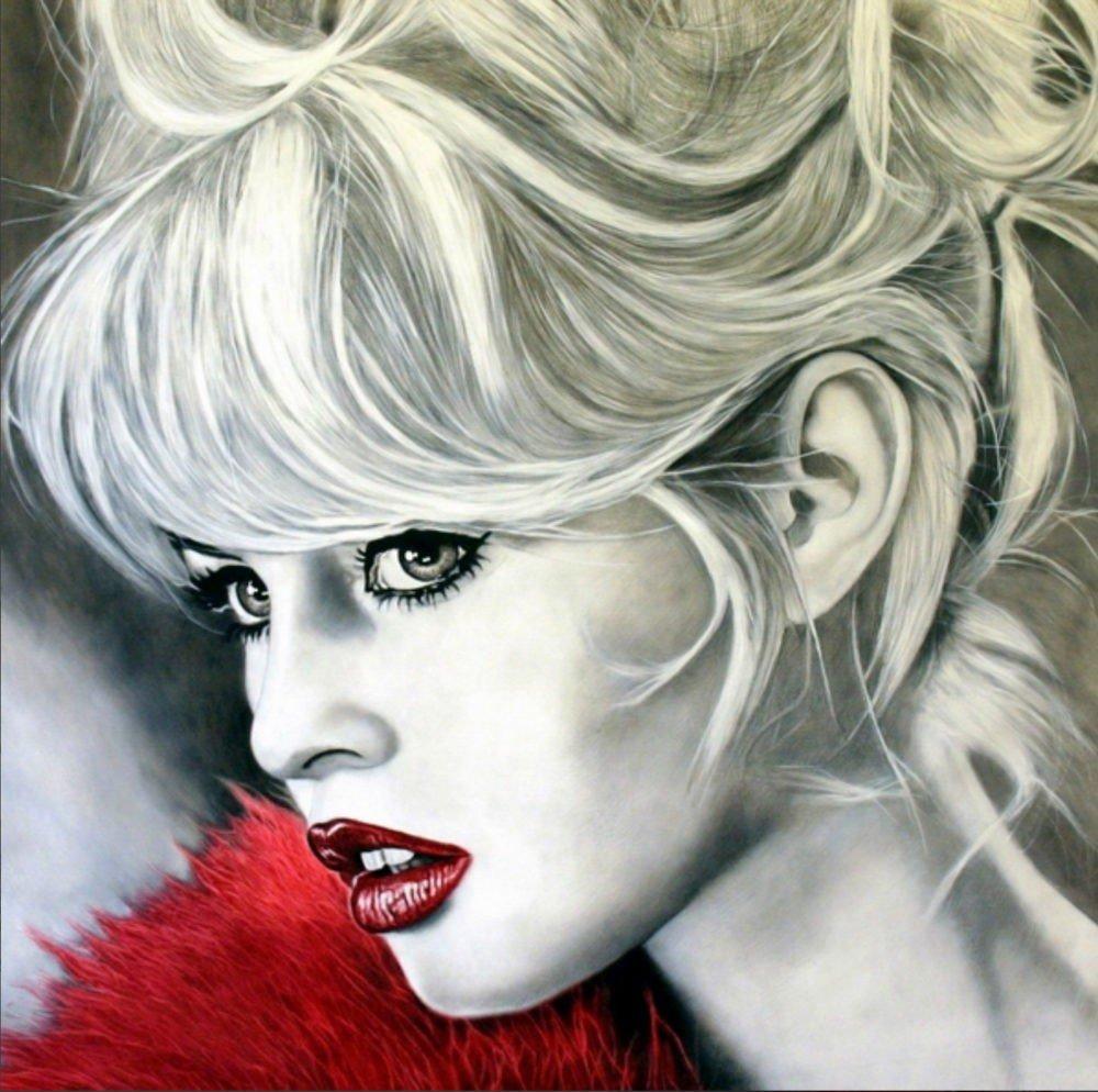 Brigitte Bardot | Il boa rosso
