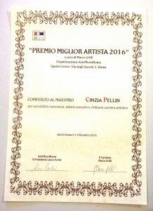 Premio Miglior Artista 2016 | Cinzia Pellin